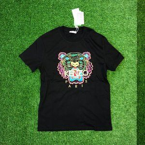"Kenzo Men Chest Embroidery Black T-Shirt ""S"""